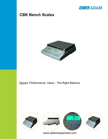 Adam Equipment Product Brochure - Nova-Tech International, Inc
