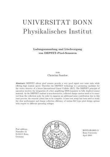 UNIVERSIT .. AT BONN Physikalisches Institut - Prof. Dr. Norbert ...