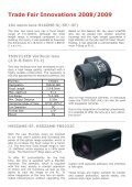 "Newsletter ""Lenses"" December 2008 - Security Systems - Pentax - Page 2"