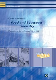 ICT And e-Business In The Food And - empirica