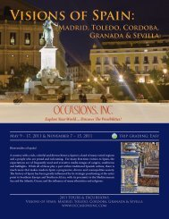 View Detailed Itinerary - Occasions, Inc.