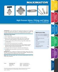 High Pressure Valves, Fittings and Tubing - OHTE GIKEN, INC.