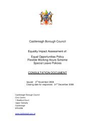 Castlereagh Borough Council Equality Impact Assessment of: Equal ...