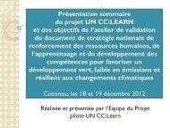 OBJECTIFS DE L'ATELIER DE PRE-VALIDATION ... - UN CC:Learn