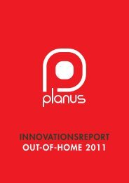 Innovationsreport Out-of-Home 2011 - planus media GmbH