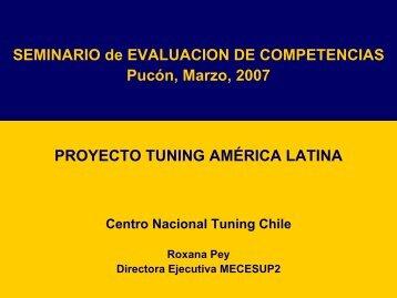 Sra. Roxana Pey, MECESUP 2 - Universidad Católica de Temuco
