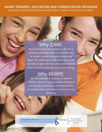 Why CARE: Why KEMPE: - Kempe Children's Center