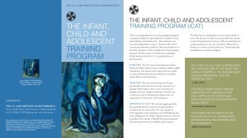 The InfanT, ChIld and adolesCenT TraInIng Program - The CG Jung ...