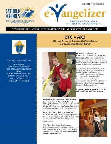 Volume 17 No. 10 - November 2, 2012 - Archdiocese of St. Louis