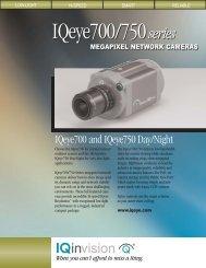 IQeye 750 Series Datasheet - Smart CCTV