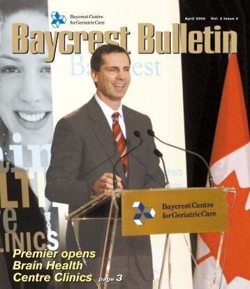 Baycrest Bulletin - April 2005 - dgp - University of Toronto