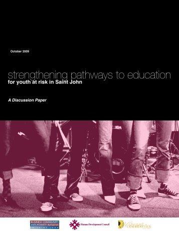 Strengthening Pathways to Educatio - The Saint John Human ...