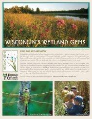 WISCONSIN'S WETLAND GEMS - Wisconsin Wetlands Association
