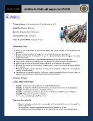 Análisis de Redes de Agua con EPANET - Ifarhu