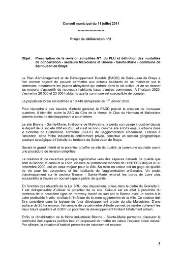 Délibération CM 11/07/2011 prescription révision simplifiée du PLU