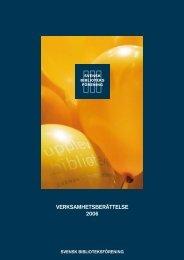VERKSAMHETSBERÄTTELSE 2006 - Svensk Biblioteksförening