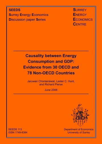 Causality between Energy Consumption and GDP: Evidence from ...