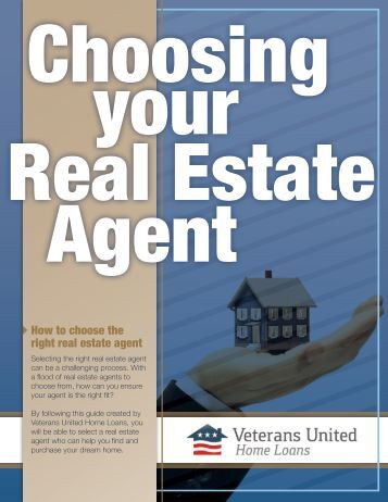 the right real estate agent for your needs - Veterans United Home ...