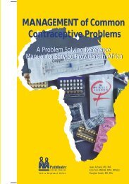 Management of Common Contraceptive Problems - Pathfinder ...