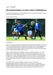 Dezemberkinder werden selten Fußballstars - TSV Obernheim eV