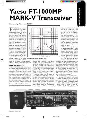FT1000MP Mark V Product Review - VA3CR