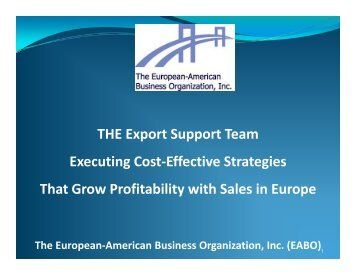 Why Export? - the European-American Business Organization, inc.