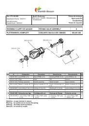 ensemble clapet de gavage feeding valve assembly - Kremlin Rexson