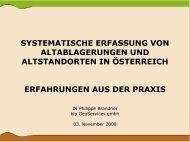 Systematische Erfassung von Altablagerungen und Altstandorten in ...
