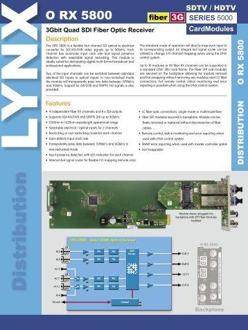 O RX 5800 Rev 1.indd - LYNX Technik AG