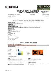 fujifilm sericol uvibond uv matt varnish uv400 - FUJIFILM Australia