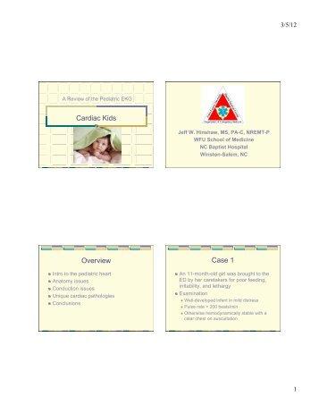 Pediatric ECG's