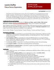 Pelican Service Organization Application - The Loomis Chaffee School