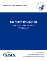 2012 Actuarial Report on the Financial Outlook for - Medicaid.gov
