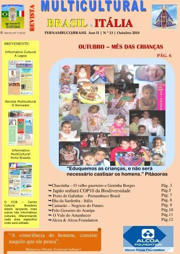 Revista_13_Edicao_Out 2010 - Revista Multicultural Brasil & Italia