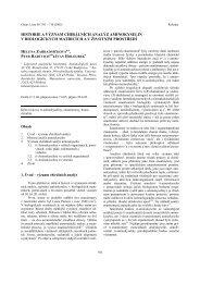 historie a vğznam chirêlnèch analğz aminokyselin v ... - Chemické listy