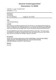 Dokumentation: 5 A 1865/08 Hessischer Verwaltungsgerichtshof