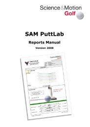 SAM PuttLab 2008 - Reports Manual - Science & Motion Golf