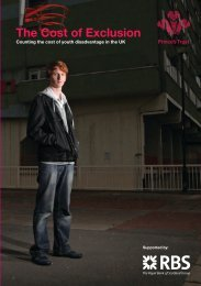 The Cost of Exclusion - The Prince's Trust