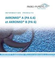 et AKROMID® B (PA 6) - AKRO-PLASTIC GmbH