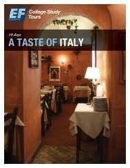 A TASTE OF ITALY - EF College Study Tours
