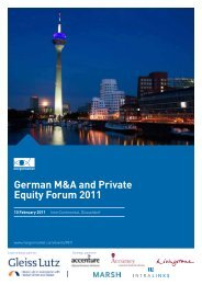 German M&A and Private Equity Forum 2011 - Industriepartner Capital