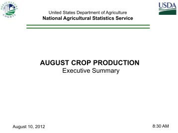 august crop production - National Agricultural Statistics Service