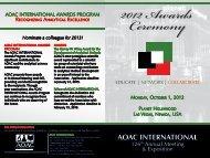 Awards Program - AOAC International