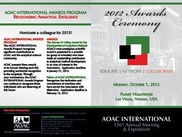 Awards Program - AOAC International
