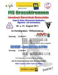 20. u. 21. August 2011 im Kendlgraben / Wilhelmsburg Samstag