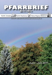 Download Pfarrbrief-2011-04.pdf - St. Joseph, Siemensstadt