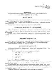 Положение о соревнованиях - КАНТ