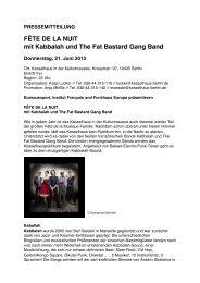FÊTE DE LA NUIT mit Kabbalah und The Fat Bastard Gang Band
