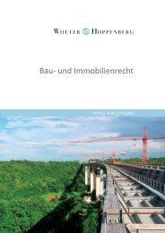 Bau- und Immobilienrecht - Wolter Hoppenberg