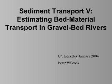 Estimating Bed-Material Transport in Gravel-Bed Rivers